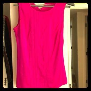 Trina Turk fuchsia sleeveless silk top